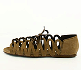 Shoe Biz - Nubuck Sandal rem Brown