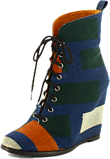 Minimarket - Wedge Boot Ikat Cotton Fabrik Multi