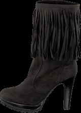 Lady CG - Kansas Long Fringe Boot Black