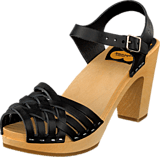 Swedish Hasbeens - Braided Sky High Black/Nature Sole