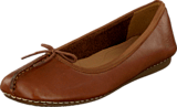 Clarks - Freckle Ice Dark Tan Leather