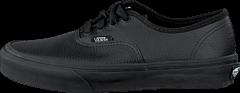 Vans - Authentic (Leather) Black/Black