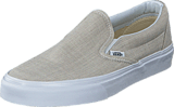 Vans - Classic Slip-On (Chambray) Gray/True White