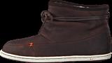 Hub Footwear - Queen Leather/Wool Dark Brown