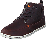 Hub Footwear - Subway Leather/Wool Dark Brown