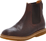 Knowledge Cotton Apparel - Ankle Boot Dark Brown