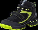 Ecco - Biom Hike Kids Low Quick Faste Black/Herbal