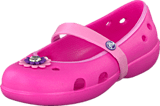 Crocs - Keeley Flower Flat Girls Charm Neon Magenta/Carnation
