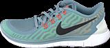 Nike - Nike Free 5.0 Dove Grey/Black Electricgrn