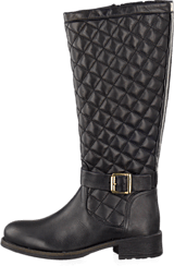 Bianco - Long Quilt Boot Black