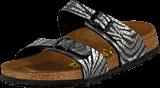 Papillio - Sydney Slim Birkoflor Zebra Black Silver