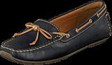 Clarks - Dunbar Groove Navy Leather