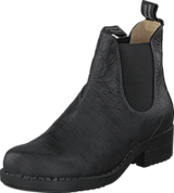 Johnny Bulls - Low Elastic Chelsea Croco Black