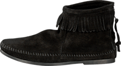 Minnetonka - Back Zipper Boot Black