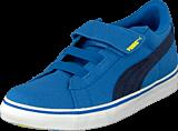Puma - Puma S Canvas Vulc V Kids Strong Blue-Peacoat