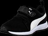 Puma - Carson Runner V Kids Black-White