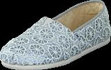 Toms - Seasonal Classics Silver Crochet Glitter