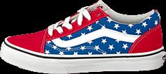 Vans - K Old Skool Stars Stripe Red