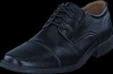 Clarks - Tilden Cap Black Leather