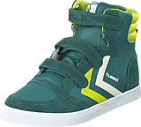 Hummel - Stadil leather junior high Silver pine
