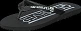 Quiksilver - Qs Java Wordmarkyt B Sndl Black/White/Black