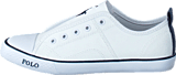 Ralph Lauren Junior - Raymond Slip On Kids Bright White Canvas