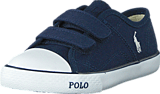 Ralph Lauren Junior - Daymond Ez Navy Canvas -White