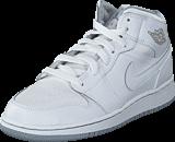 Nike - Air Jordan 1 Mid Bg White/Wolf Grey