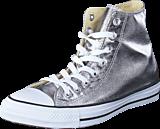 Converse - All Star Metallics-Hi Gunmetal/White/Black