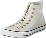 Converse - All Star Shearling Leather-Hi Parchment/Black/Egret