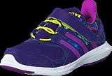 adidas Sport Performance - Hyperfast 2.0 El K Collegiate Purple/Purple/Slime