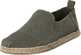 Toms - Deconstructed Alpargata Olive Washed Canvas