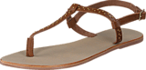 Pieces - Pslina Leather Sandal Studs Cognac