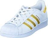 adidas Originals - Superstar J Ftwr White/Gold Met./Gold Met.