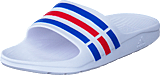 adidas Sport Performance - Duramo Slide White/True Blue/Red S09