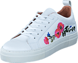 Pieces - Paulina Leather Flower White