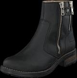 Johnny Bulls - Low Zip Boot Black / Shiny Silver