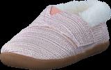 Toms - House Slipper Tiny Pink Metallic Woven