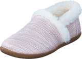 Toms - House Slipper Youth Pink Metallic Woven