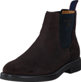 Gant - Oscar G46 Dark Brown Suede