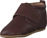 Bisgaard - Home Shoe Velcro Star Brown