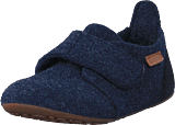 Bisgaard - Home Shoe Wool Velcro Blue