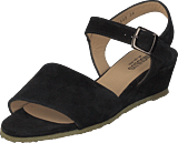 Angulus - Wedge-heeled Sandal W. Buckle Black
