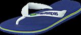 Havaianas - Kids Brasil Logo Marine Blue