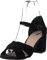 Bianco - Front Cross Sandal Black