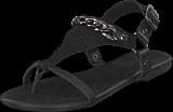 Bianco - Triangle Chain Sandal Black