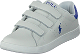 Ralph Lauren Junior - Quilton Ez C White Leather W Royal Pp
