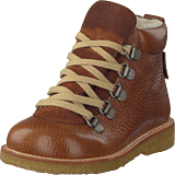 Angulus - Tex-boot With Zipper And Laces Medium Brown / Cognac